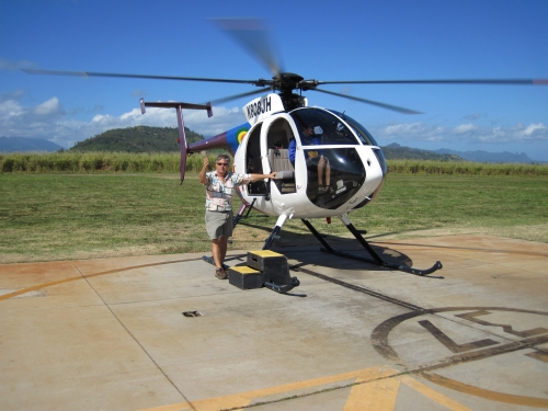 Helicopter at Lihue Airport