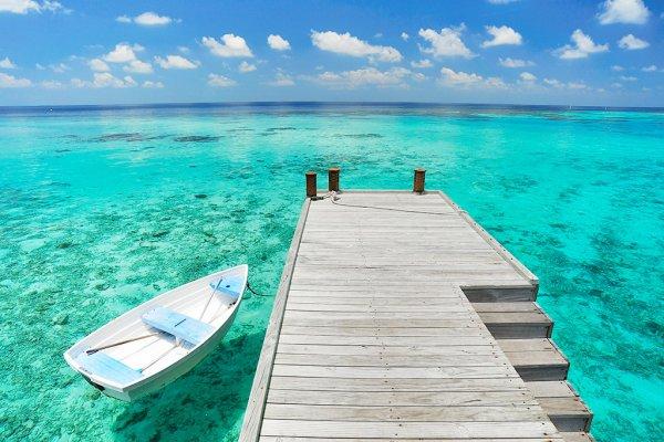 Maldives Boat and Pier