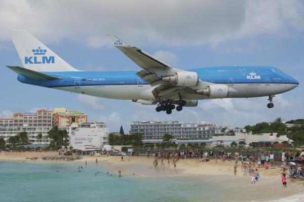 St-Martin KLM Landing
