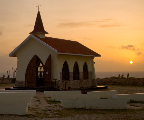 Aruba Alto Vista Chapel Sunset